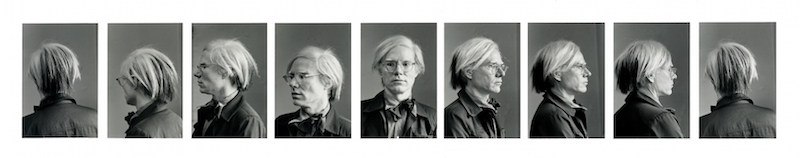 Duane Michals' series of protraits of Andy Warhol.